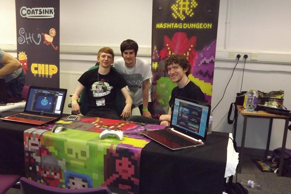 Myself, Tom and Kieran sitting proudly behind our booth at LAC!